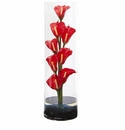 20� Calla Lily Artificial Arrangement in Cylinder Glass