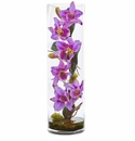 20�� Cattleya Orchid Artificial Floral Arrangement in Cylinder Vase - Lavender
