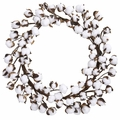 "20"" Cotton Ball Artificial Wreath Decor"