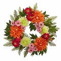 20� Dahlia Wreath Silk Flower Arrangement