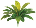 """20"""" Outdoor Bird's Nest Fern Artificial Bush with 20 Leaves - Set of 12"""