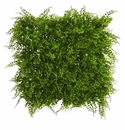 20� x 20� Lush Mediterranean Artificial Fern Wall Panel UV Resistant (Indoor/Outdoor) -