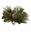 21� Pine Cone and Pine Artificial Arrangement Candelabrum