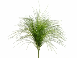 """21"""" Plastic Willow Artificial Grass Bushes - Set of 6"""
