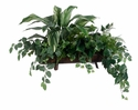"21"" Silk CordylinePlant, Fittonia Vines and Artificial Fern Arrangement in Metal Container"