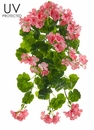 "21"" UV Protected Geranium Hanging Artificial Bush - Set of 6"