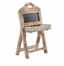 21�� Whitewash Wood Chalkboard Rack  -