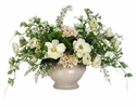 "22"" Artificial Hydrangea/ Ranunculus and Petunia Silk Flowers in Terra Cotta Pot"