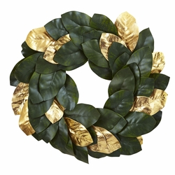 "22"" Golden Leaf Magnolia Wreath"
