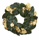 22� Golden Leaf Magnolia Wreath