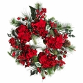 "22"" Hydrangea Holiday Wreath"