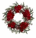 22�  Orchid,  Berry & Pine Holiday Wreath