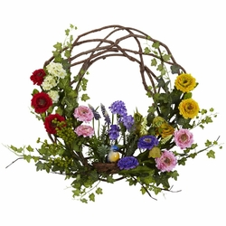 22 spring floral wreath silk flowers flower wreaths garland 22 spring floral wreath silk flowers mightylinksfo