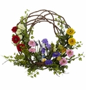 22� Spring Floral Wreath