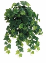 "23"" Instant Open Rounded English Ivy Hanging Artificial Bush x 19 Vines - Set of 6"