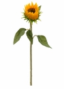 "24.5"" Artificial Sunflower Bud Spray - Set of 12 Silk Flowers"