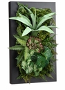 """24"""" Artificial Agave, Silk Fern and Succulent Cactus Wall Decor"""