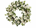 "24"" Artificial Dogwood Wreath Arrangement"