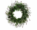 "24"" Artificial Lavender Mini Leaf Wreath  - Set of 2"