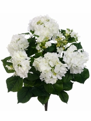 "24"" Artificial Silk Hydrangea Bush Flowers - Set of 6 (shown in Cream)"