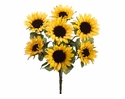 "24"" Artificial Sunflower Bush with 7 Flowers - Set of 12"