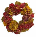 24� Fall Hydrangea Flower Wreath