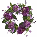 24� Artificial  Hydrangea Flower Wreath Arrangement