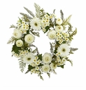 24� Mixed Daisy�s and Ranunculus Wreath -