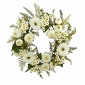 "24"" Mixed Daisy's and Ranunculus Wreath -"