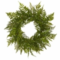 "24"" Mixed Artificial Fern Wreath"