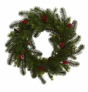 24� Pine and Berry Artificial Wreath