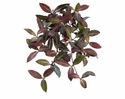 """25"""" Artificial Round Laurel Hanging Bush with 99 Leaves & Berries - Set of 6"""