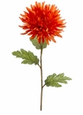 "25"" Silk Spider Mum Flower Spray Stem - set of 12"