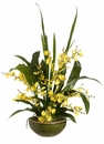 """26"""" Artificial Oncidium Orchid in Bowl"""