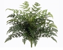 "26"" Artificial Polynesian Leather Fern Bush  with 5 Shoots and 325 Leaves - Set of 6"