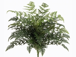 """26"""" Artificial Polynesian Leather Fern Bush  with 5 Shoots and 325 Leaves - Set of 6"""