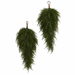 "26"" Cedar Artificial Teardrop Swags (Set of 2)"