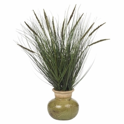 "27"" Grass with Mini Cattails Artificial Plant"