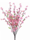 "27"" Silk Cherry Blossom Bush Flower Stems - Set of 12"