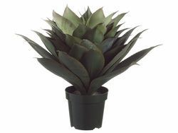 """28"""" Artificial Agave Plant with 51 Leaves in Plastic Pot"""