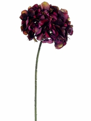 "28"" Artificial Silk Hydrangea Spray Flower - Set of 6 Flowers (Shown in Wine)"