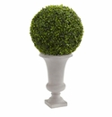 28� Boxwood Ball Topiary Artificial Plant in Urn (Indoor/Outdoor) -