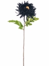 "28"" Silk Spider Mum Flower Spray with Skull - Set of 12"