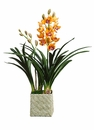 "29"" Artificial Cymbidium Orchid Arrangement Plant in Basket"