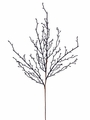 "29"" Artificial Twig Branch Spray in Black - Set of 6"