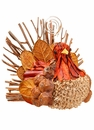 "3.5"" Artificial Novelty Turkey Name Card Holder Table Decoration - Set of 12"