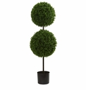 3.5� Boxwood Double Ball Artificial Topiary Tree UV Resistant (Indoor/Outdoor)
