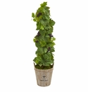 3.5� Grape Artificial Plant in Barrel Planter -