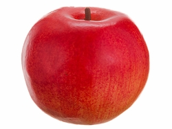 "3.9"" Artificial Foam Weighted Apple Fruit Two Tone Red - Set of 6"