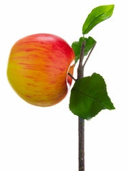"""3"""" Artificial Apple on Branch - Set of 12"""